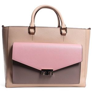 Tory burch T-lock collection colorblock tote